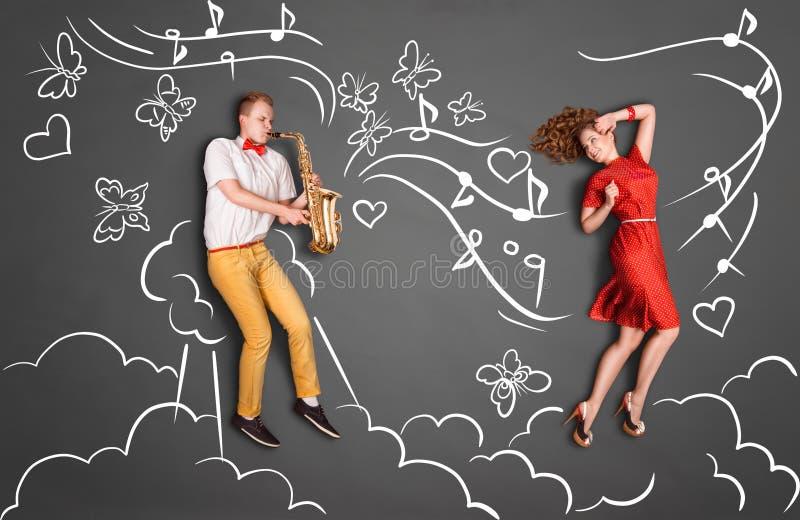 Jazz för romans royaltyfri illustrationer