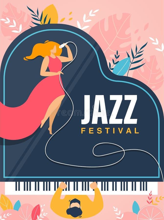 Jazz Festival Banner, invitation, insecte de concert illustration libre de droits