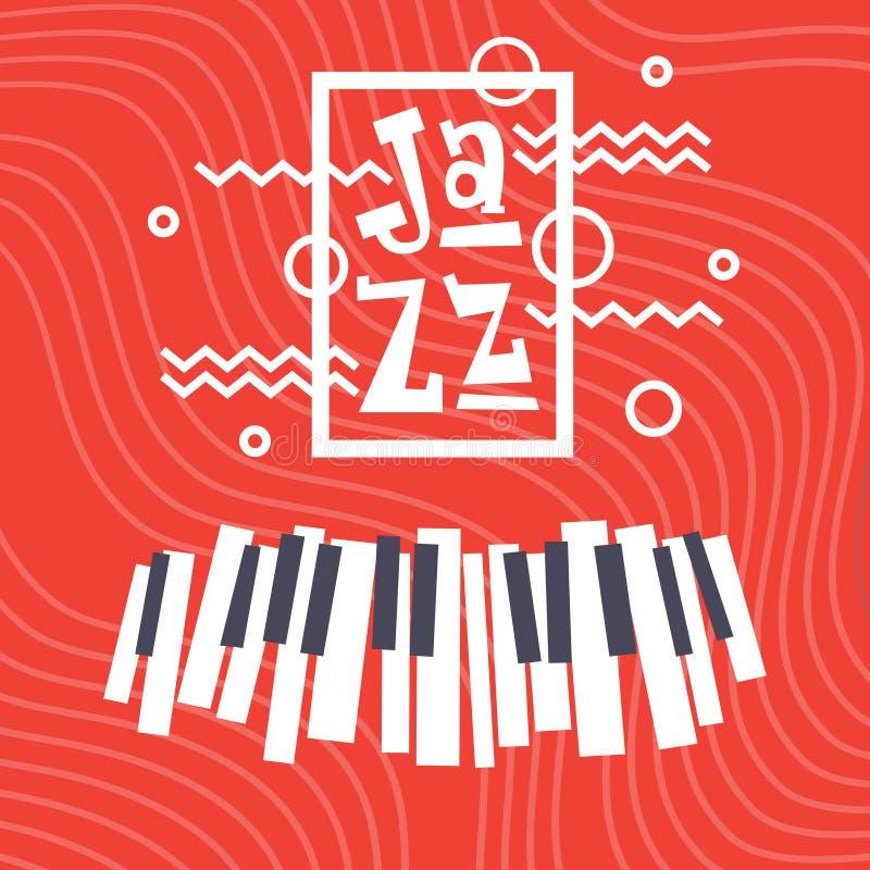 Jazz Festival Live Music Concert Poster Advertisement Banner stock illustration