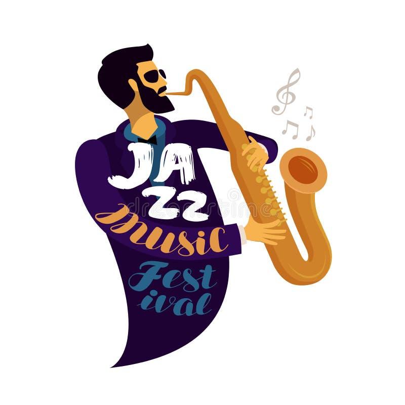 Jazz Festival Musica in diretta, jive, concetto di concerto Illustrazione di vettore royalty illustrazione gratis