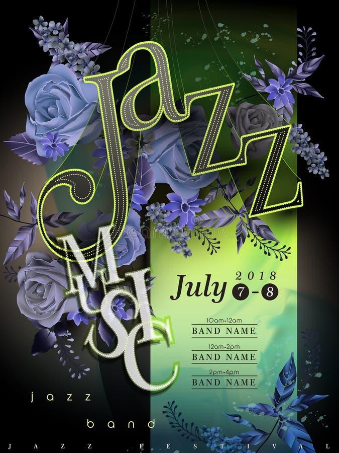 Jazz Festival Poster royalty-vrije illustratie