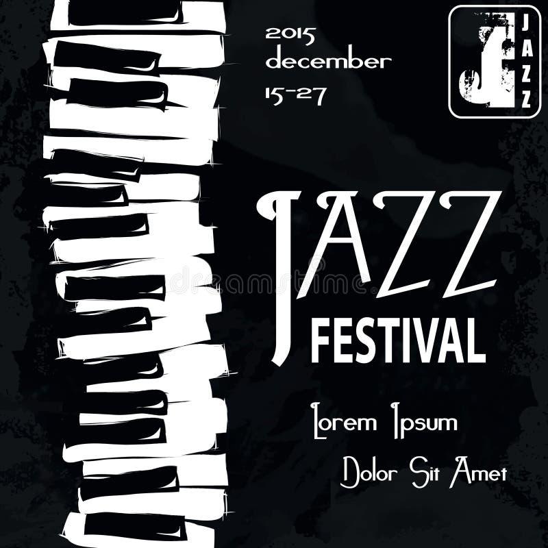 Jazz Festival Poster ilustración del vector