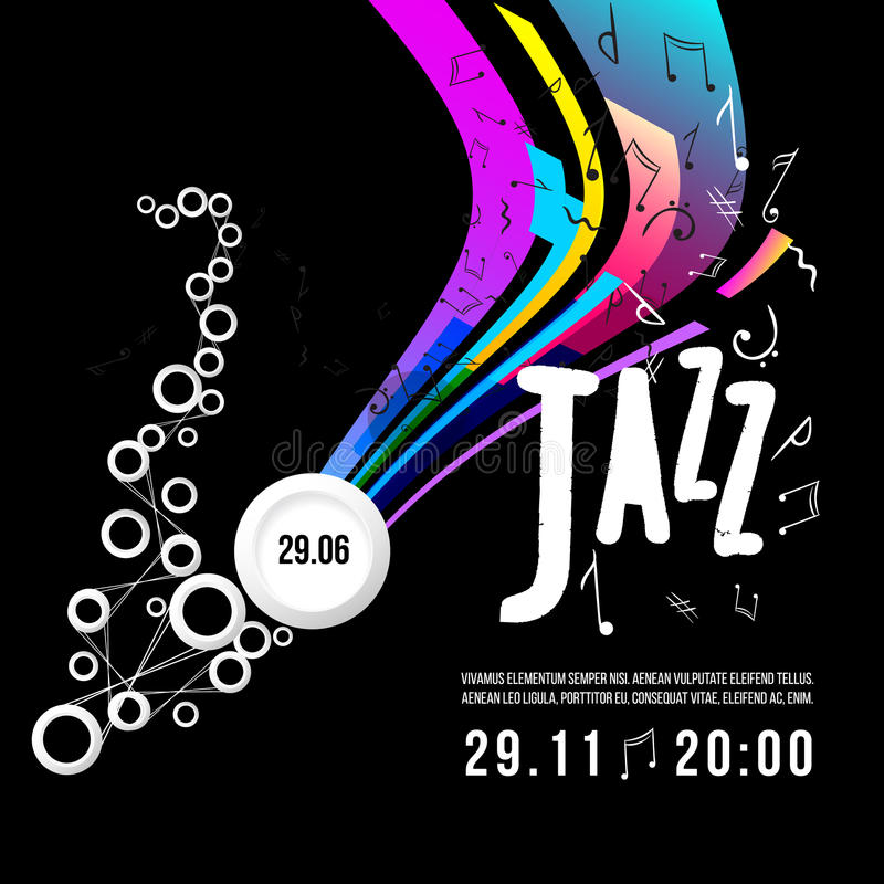 Jazz festival poster template. Jazz music. Saxophone. International Jazz Day. Vector design element vector illustration