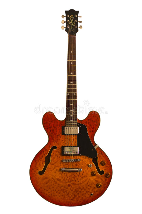 Jazz - Gitarre lizenzfreie stockfotos