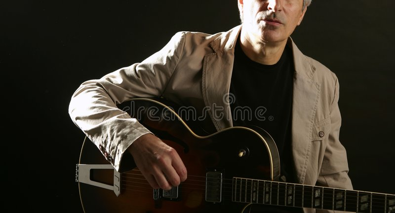 Download Jazz Guitar Player Playing Instrument Stock Photo - Image of electric, human: 9096932