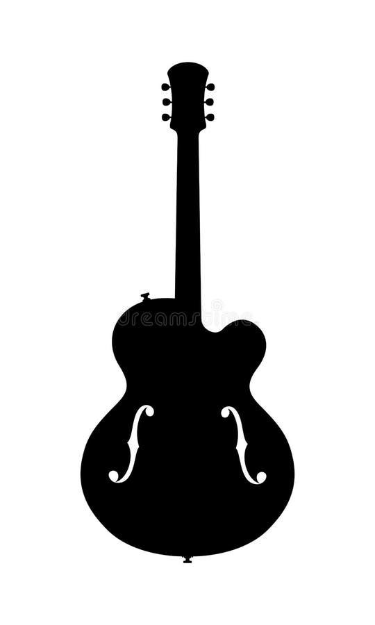 Jazz Guitar Silhouette royalty-vrije illustratie