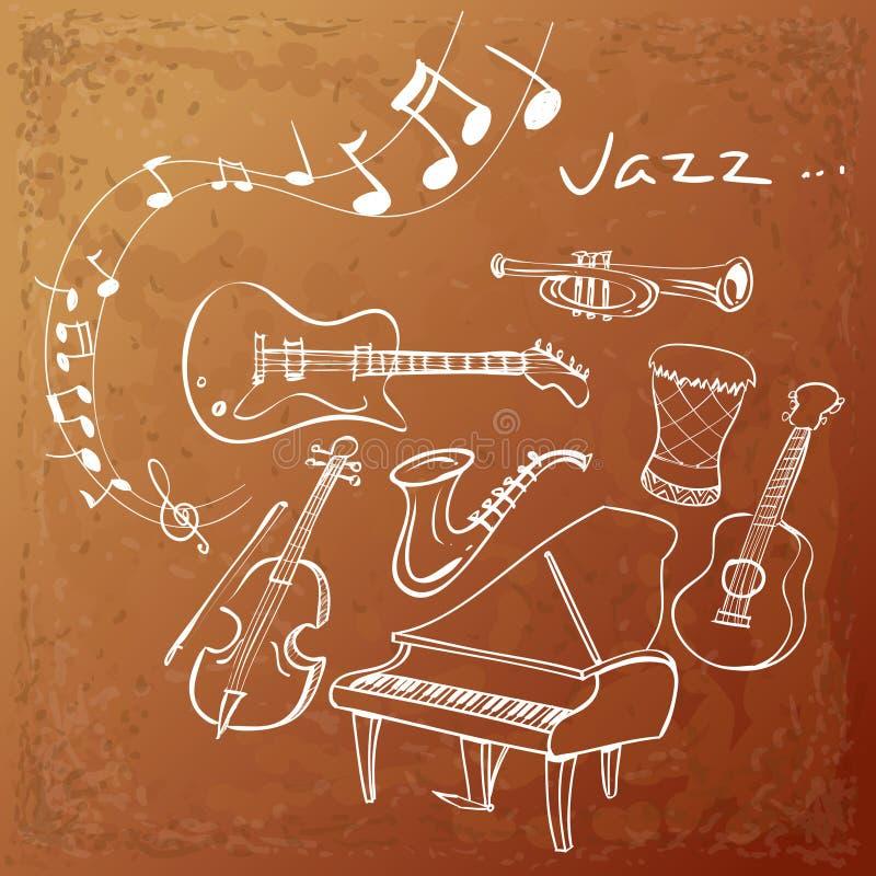 Jazz Instrument Background libre illustration