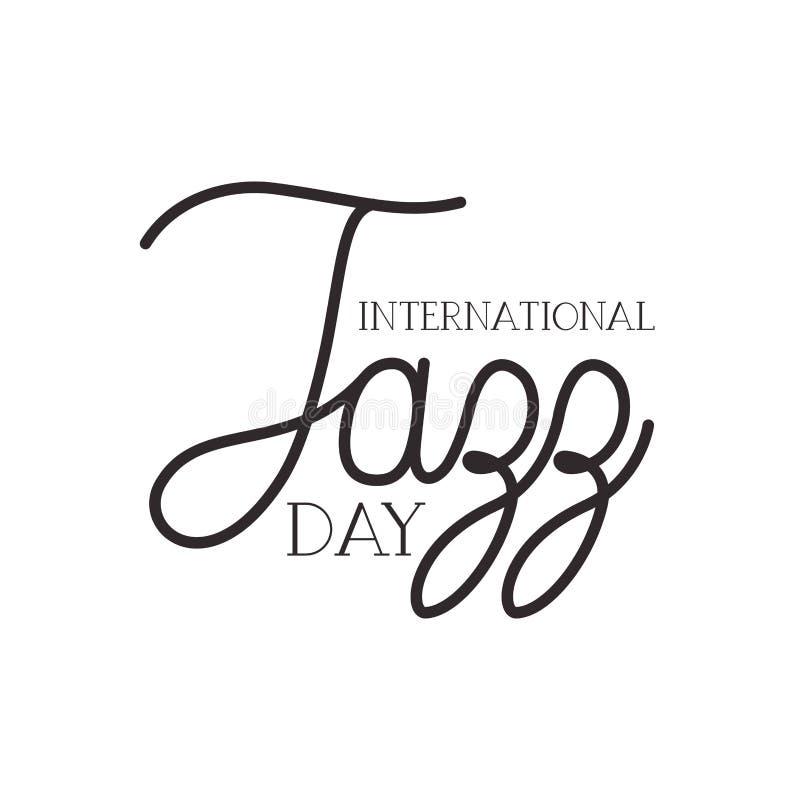 Jazz international day label isolated icon royalty free illustration