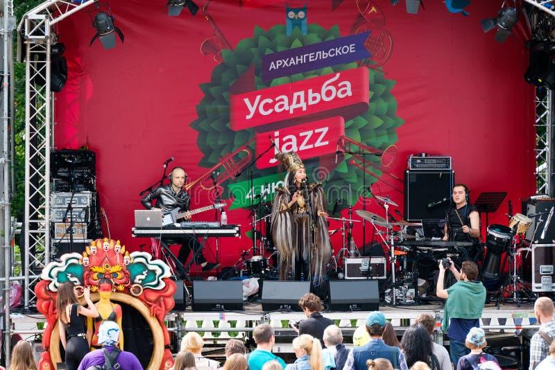 Jazz internazionale di Usadba di festival fotografia stock