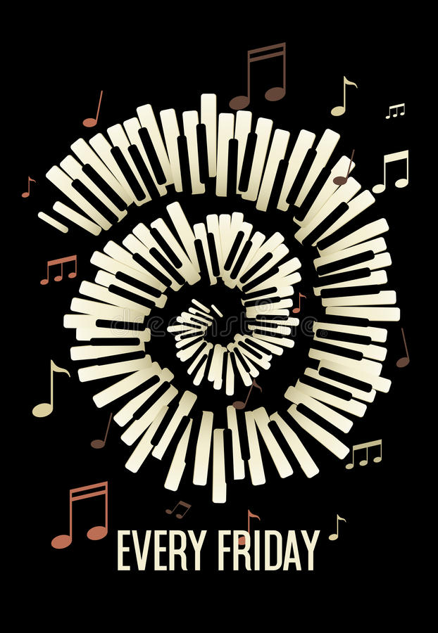 Jazz Live music festival, poster background template. royalty free illustration