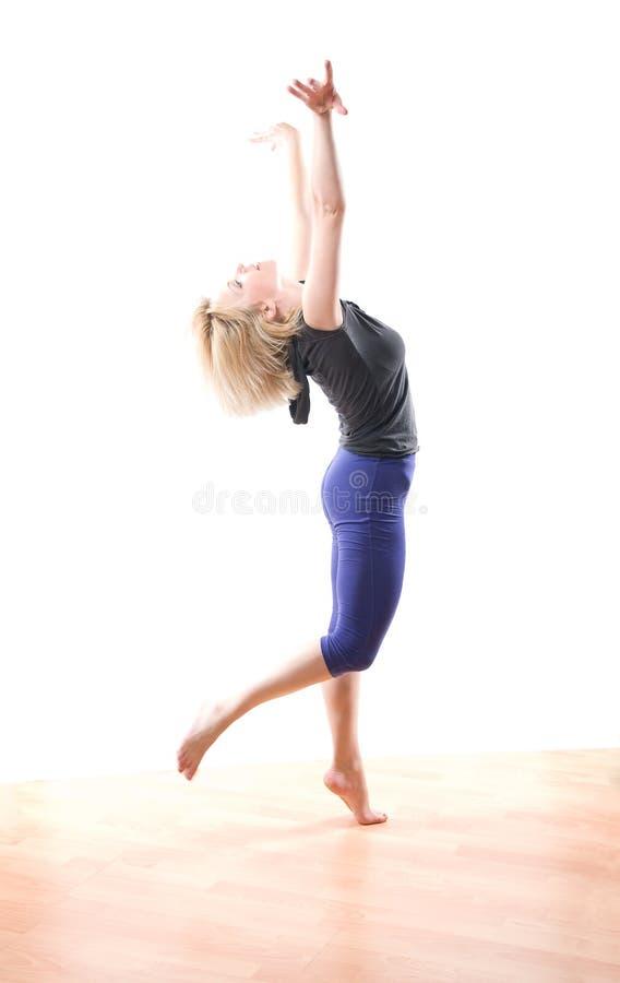Jazz moderno ballante fotografia stock libera da diritti