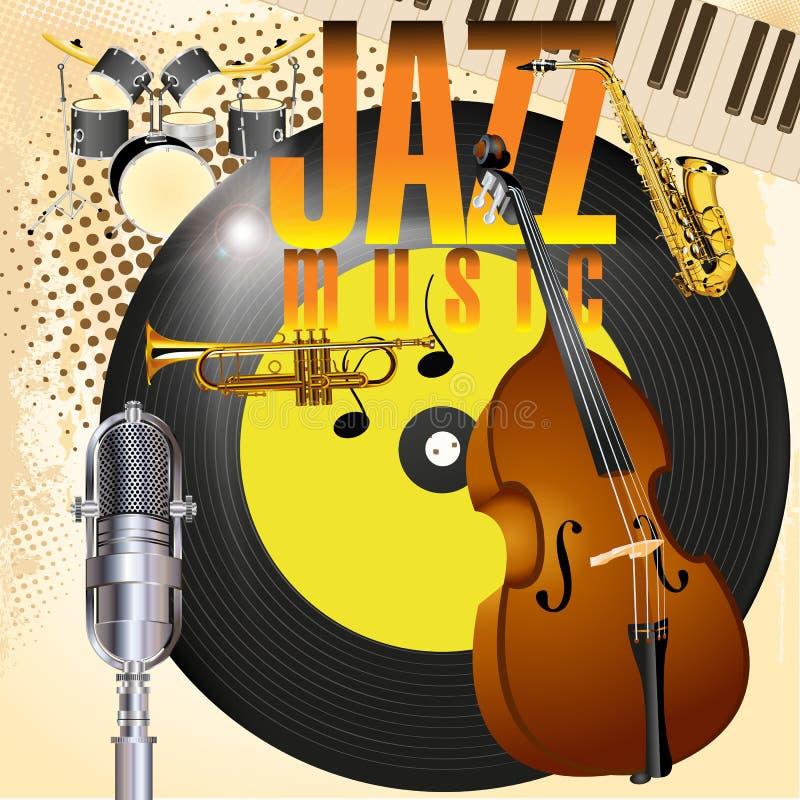 Jazz Music stock de ilustración