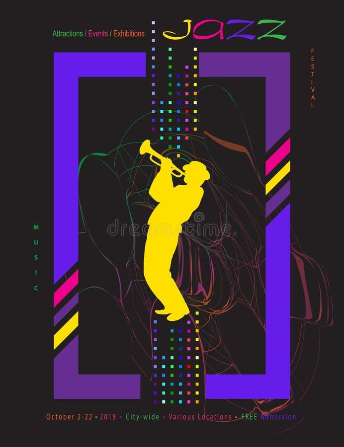 2019 Jazz music festival travel poster stock illustration