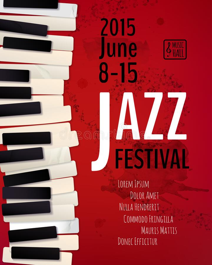 Free Jazz Music Festival Poster Royalty Free Stock Photo - 188014085