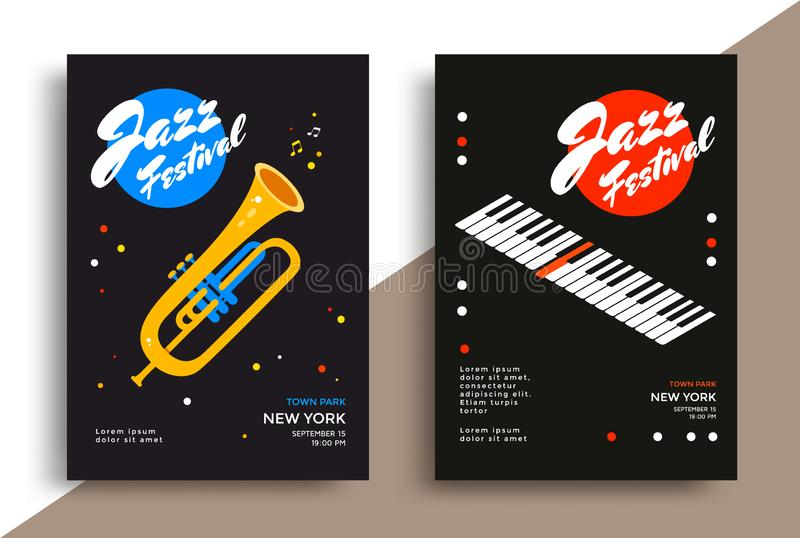 Jazz Music Festival Poster royalty-vrije illustratie
