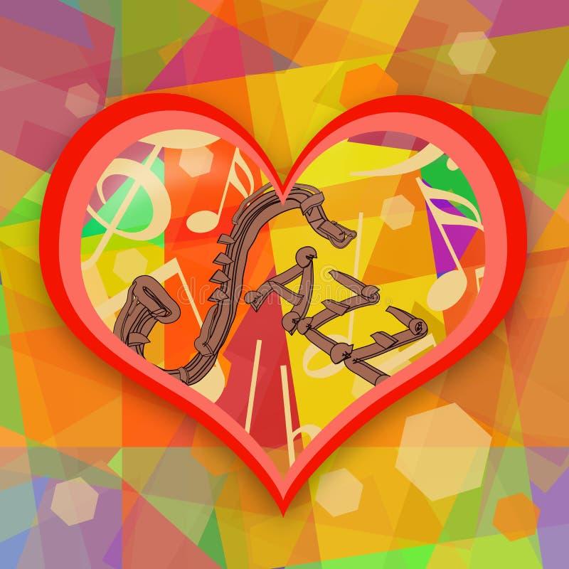 Jazz music love vector illustration
