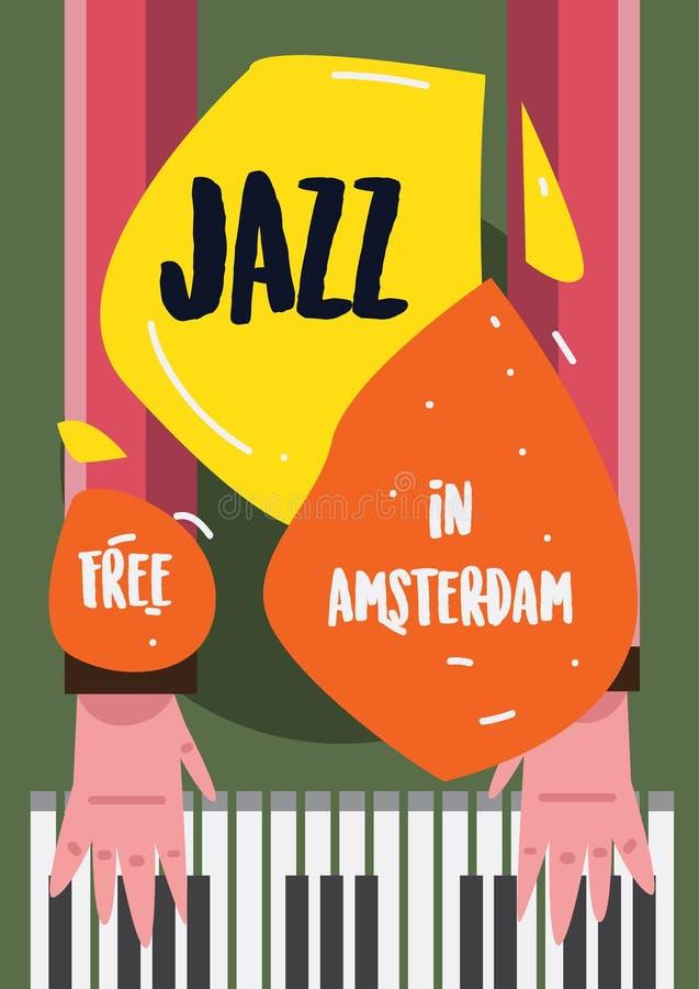 Jazz Music Poster royalty free illustration