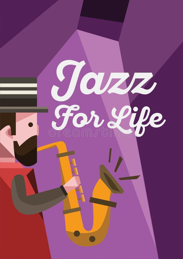 Jazz Music Poster. Is concept for music, jazz, festival and much more royalty free illustration