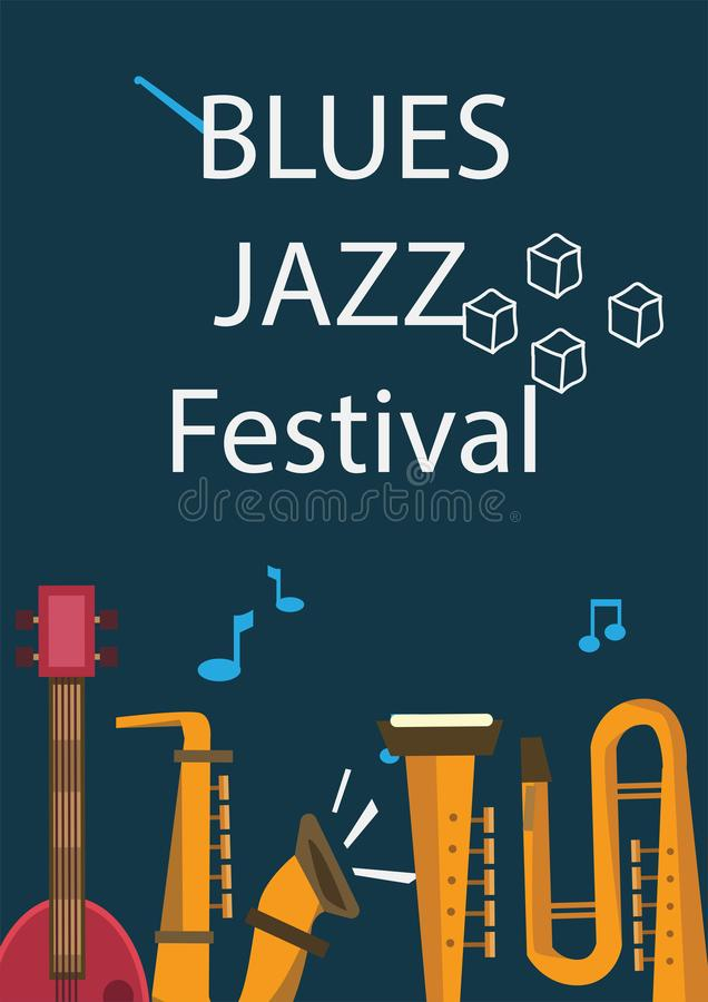 Jazz Music Poster. Is concept for music, jazz, festival and much more stock illustration