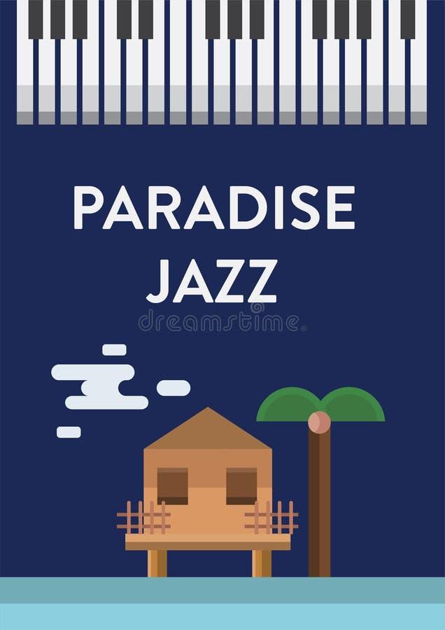 Jazz Music Poster stock illustration