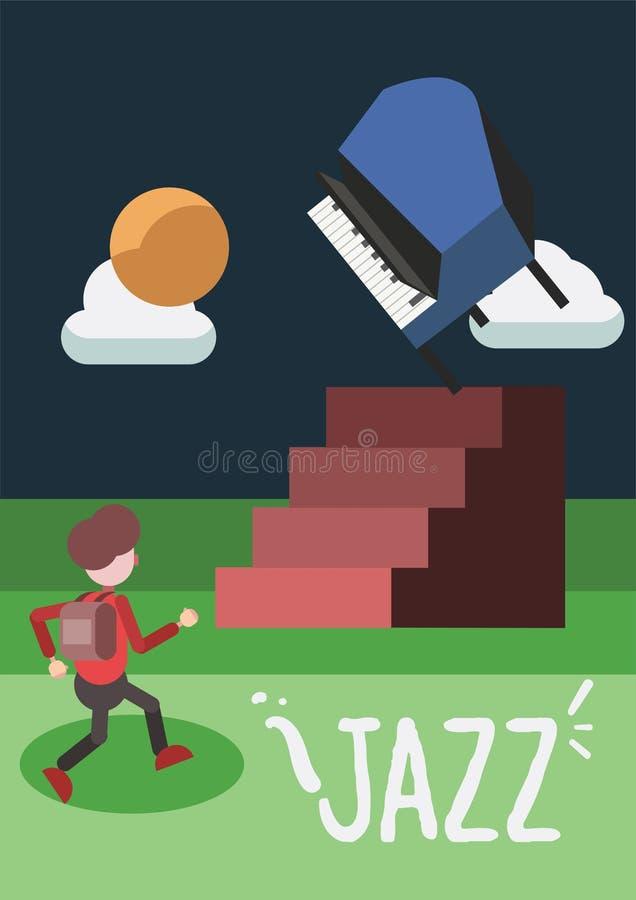 Jazz Music Poster vector illustration