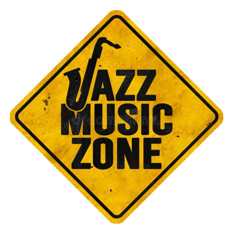 Jazz Music Zone Sign fotografía de archivo