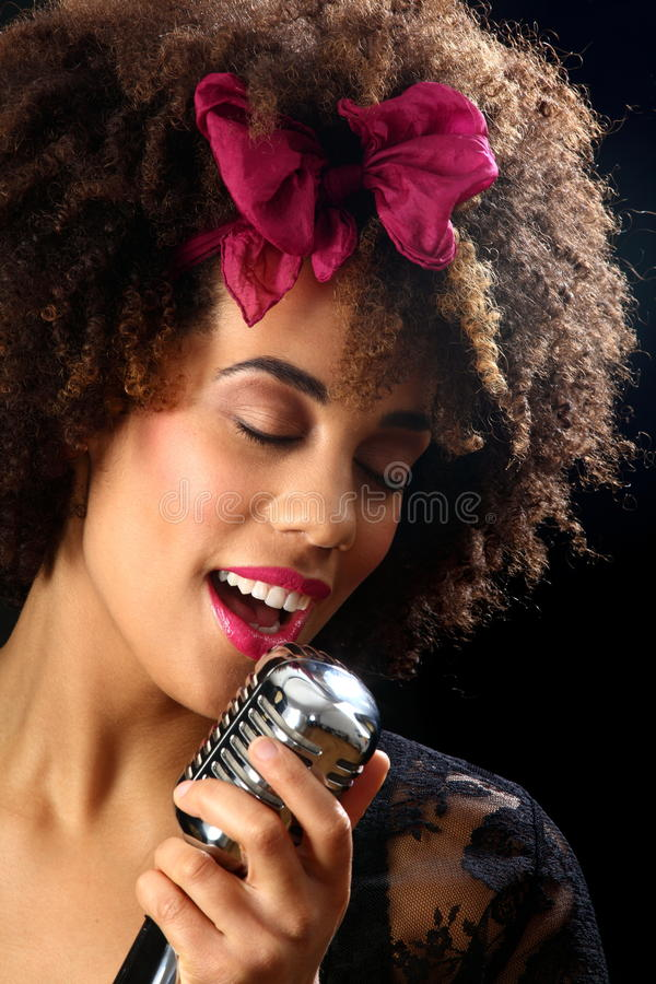 Jazz musician headshot stock photography