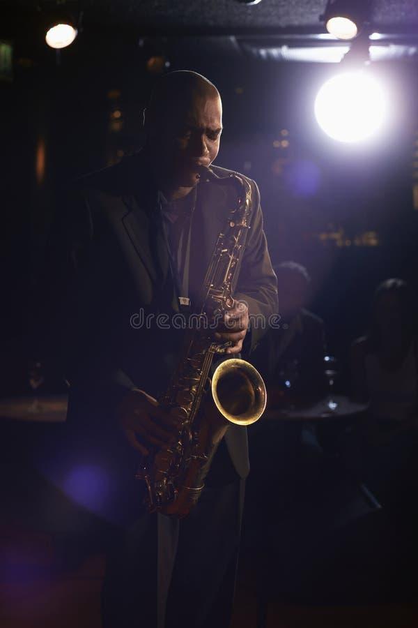 Jazz Musician With Saxophone foto de stock