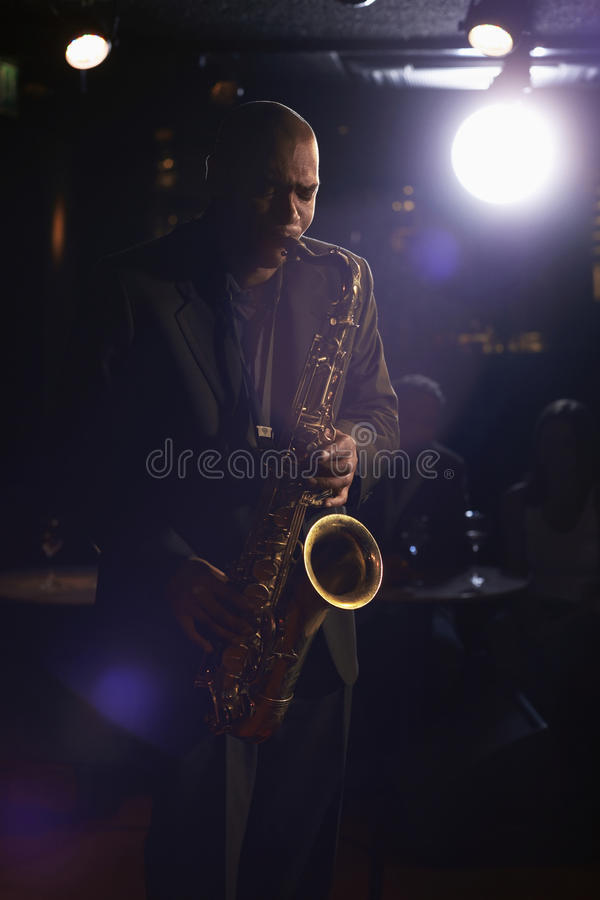 Download Jazz Musician With Saxophone Stock Photo - Image of music, performer: 31835810