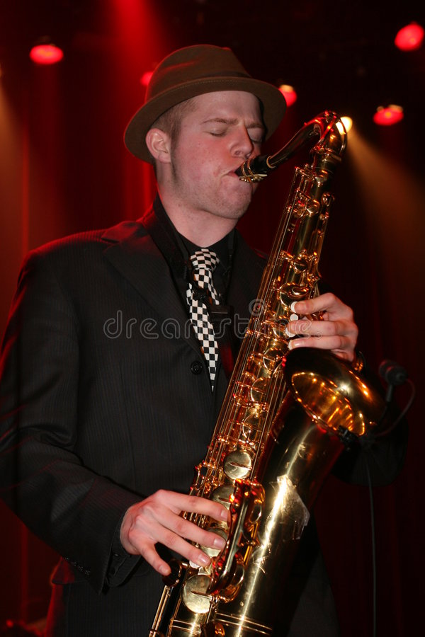 Jazz-Musiker stockbild