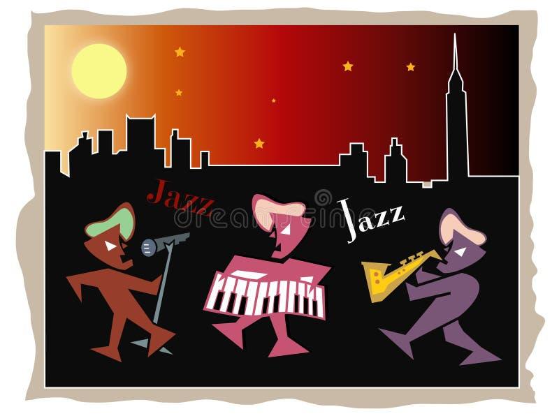 Jazz na noite ilustração do vetor
