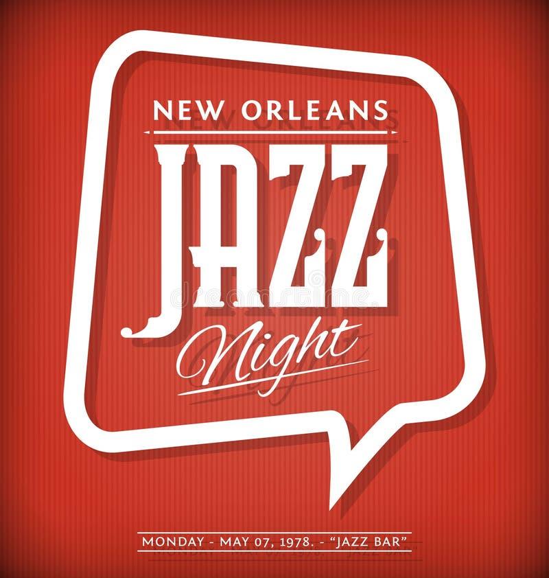 Jazz Night Poster lizenzfreie abbildung