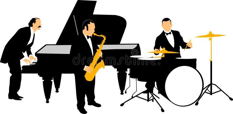 Jazz orchestra royalty free illustration