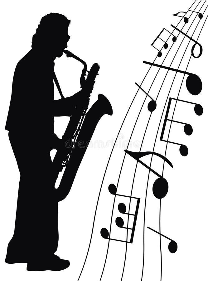 Jazz para o saxofone ilustração do vetor
