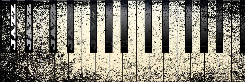 Jazz Piano royalty-vrije illustratie