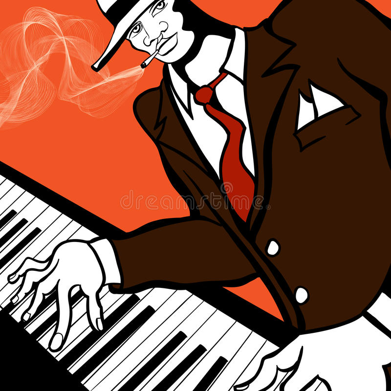 Jazz Piano Player Royalty Free Stock Photos