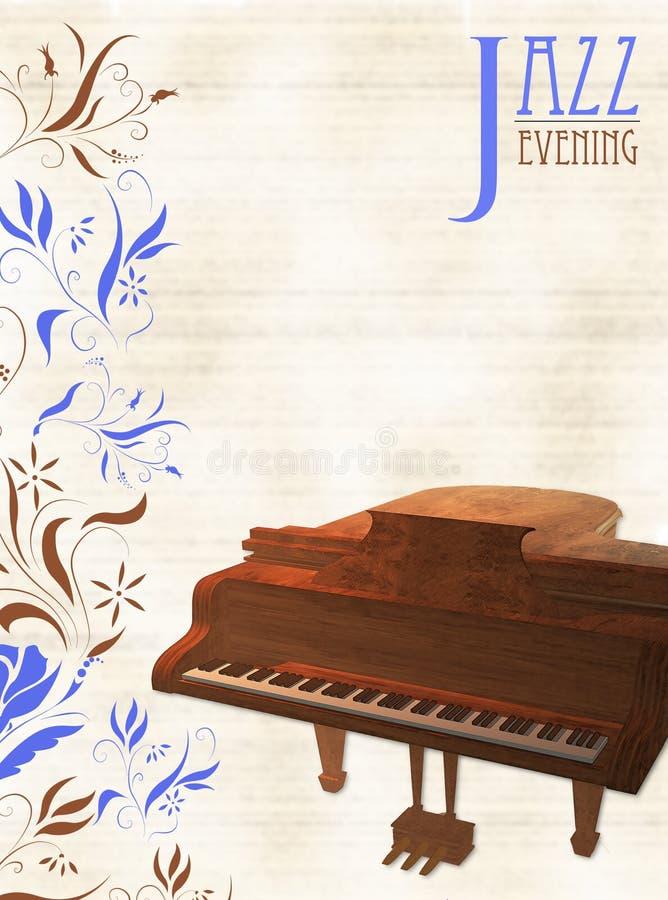 Jazz Piano Template illustration de vecteur