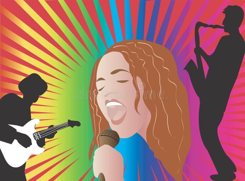 jazz piosenkarz royalty ilustracja