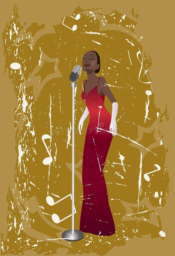 jazz piosenkarz ilustracja wektor