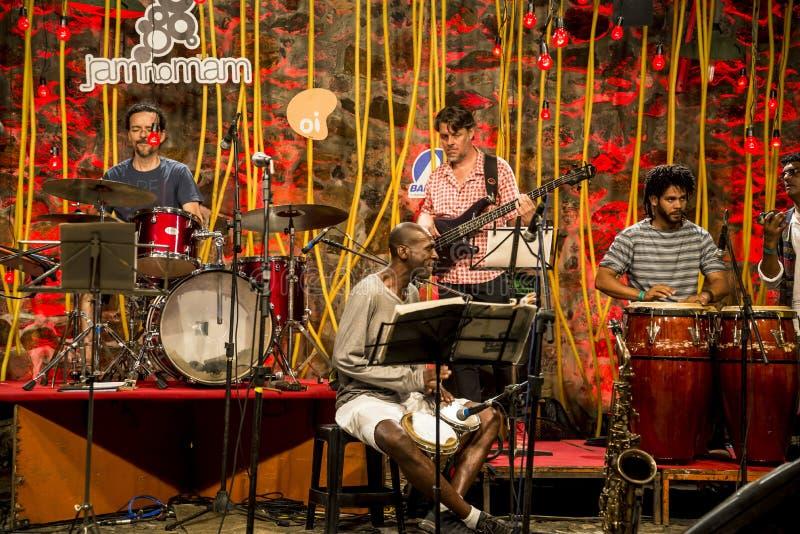 Jazz przy muzeum sztuka współczesna, Salvador, Bahia, Brazylia zdjęcia royalty free
