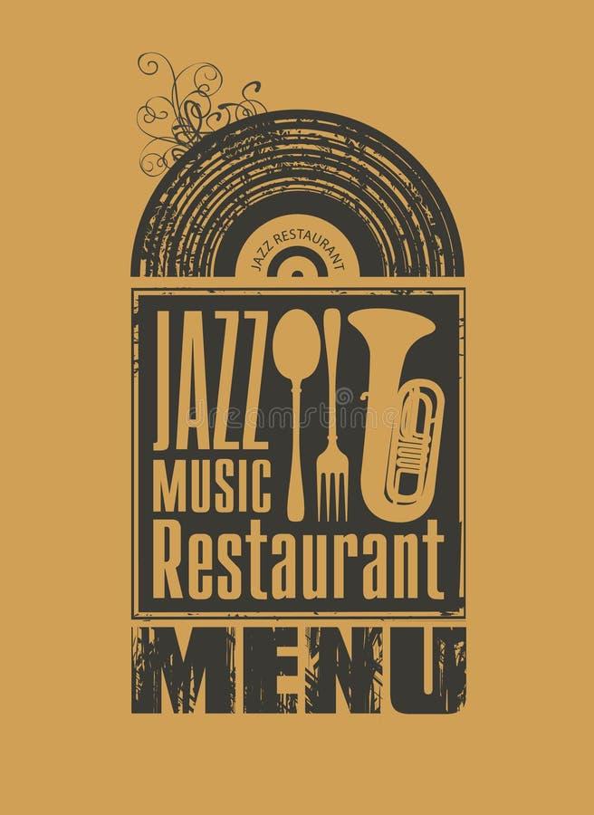 Jazz restaurant royalty free illustration