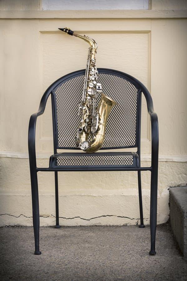 Jazz Saxophone Grunge royalty-vrije stock afbeelding