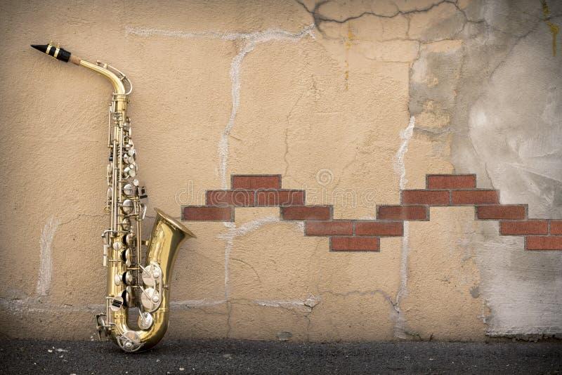 Jazz Saxophone Grunge στοκ εικόνες με δικαίωμα ελεύθερης χρήσης