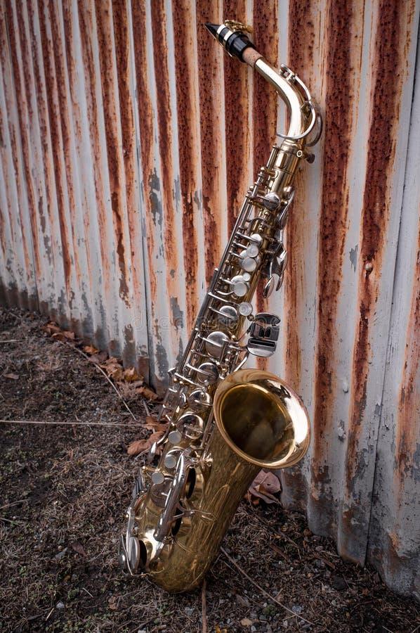 Jazz Saxophone Grunge fotos de archivo