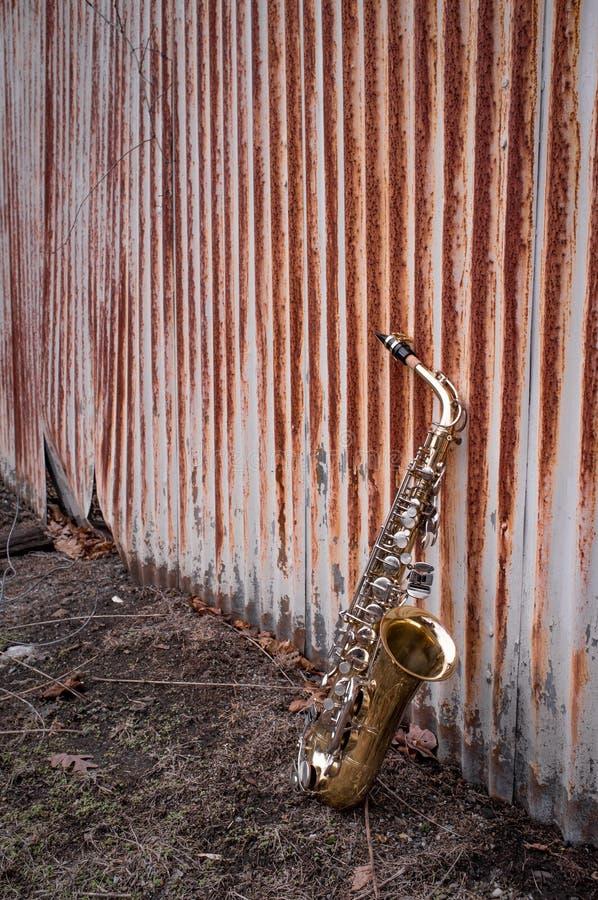 Jazz Saxophone Grunge στοκ εικόνες
