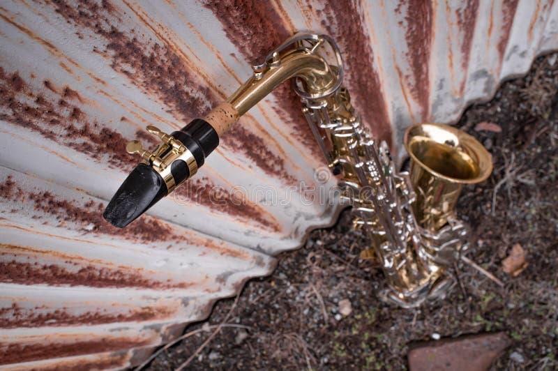 Jazz Saxophone Grunge imagen de archivo libre de regalías