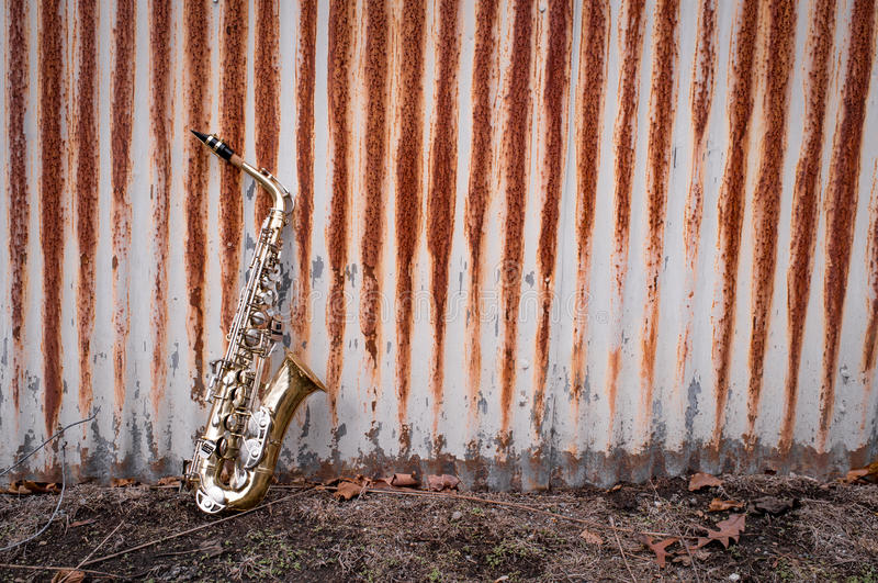 Jazz Saxophone Grunge fotos de stock royalty free
