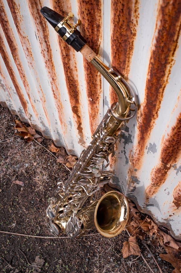 Jazz Saxophone Grunge foto de archivo