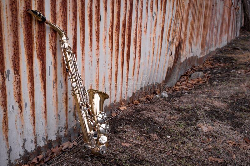 Jazz Saxophone Grunge imágenes de archivo libres de regalías