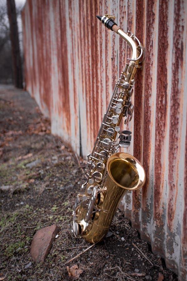 Jazz Saxophone Grunge fotografía de archivo libre de regalías